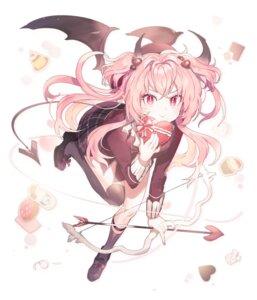 Rating: Safe Score: 23 Tags: horns ranobigi0820 seifuku tail thighhighs valentine weapon wings User: Arsy