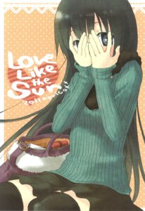 Rating: Safe Score: 12 Tags: aoki_ume apricot+ sweater thighhighs User: Radioactive