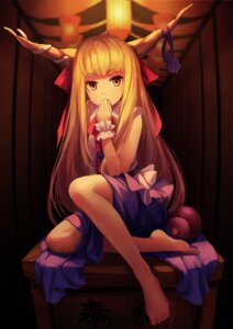 Rating: Safe Score: 69 Tags: horns ibuki_suika kirino_(codec007) touhou User: Mr_GT
