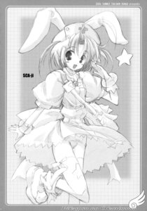 Rating: Questionable Score: 4 Tags: animal_ears bunny_ears monochrome nakahara_komugi nurse_witch_komugi sca-ji school_swimsuit skirt_lift swimsuits thighhighs User: midzki