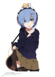 Rating: Safe Score: 80 Tags: guitar headphones milky_been! ogipote re_zero_kara_hajimeru_isekai_seikatsu rem_(re_zero) skirt_lift stockings sweater thighhighs User: Hatsukoi