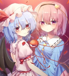 Rating: Safe Score: 18 Tags: dress komeiji_satori remilia_scarlet tagme touhou wings User: BattlequeenYume
