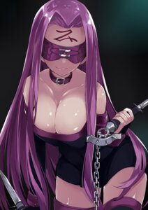 Rating: Safe Score: 51 Tags: cleavage dress fate/stay_night kou_mashiro rider thighhighs weapon User: Mr_GT