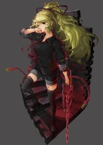 Rating: Safe Score: 18 Tags: blood croriin sword thighhighs User: BattlequeenYume