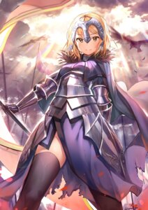 Rating: Safe Score: 40 Tags: armor dr_poapo dress fate/grand_order jeanne_d'arc jeanne_d'arc_(alter)_(fate) thighhighs torn_clothes weapon User: Mr_GT