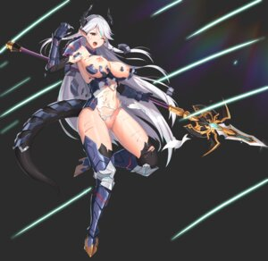 Rating: Explicit Score: 39 Tags: armor blood breasts epic7 horns jeongjae_(jj) leotard luna_(epic7) nipples no_bra nopan pointy_ears pussy tail thighhighs wardrobe_malfunction weapon User: darkpussyslayer