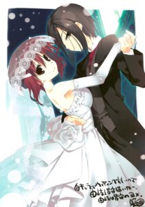 Rating: Safe Score: 18 Tags: dress jpeg_artifacts kagome minakami_yuki scanning_dust subarashiki_hibi wedding_dress yuki_tomosane User: Radioactive
