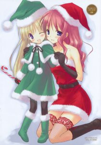 Rating: Safe Score: 22 Tags: christmas fishnets komiya_yuuta pantyhose thighhighs User: blooregardo