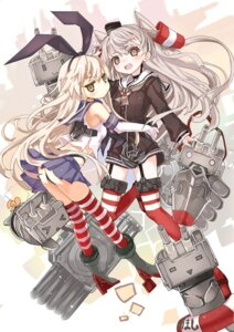 Rating: Questionable Score: 30 Tags: amatsukaze_(kancolle) ass heels kantai_collection rensouhou-chan rensouhou-kun shimakaze_(kancolle) shino_(eefy) stockings thighhighs thong User: fairyren