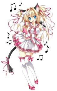 Rating: Questionable Score: 72 Tags: animal_ears kamiya_tomoe nekomimi tail thighhighs User: fairyren