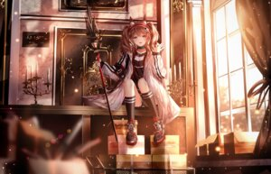 Rating: Safe Score: 62 Tags: angelina_(arknights) animal_ears arknights junpaku_karen weapon User: BattlequeenYume