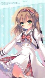 Rating: Safe Score: 24 Tags: rubi-sama seifuku skirt_lift thighhighs User: kiyoe