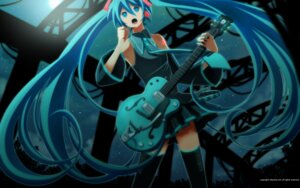 Rating: Safe Score: 18 Tags: guitar hatsune_miku inago thighhighs vocaloid wallpaper User: yumichi-sama