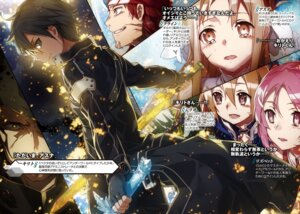 Rating: Safe Score: 32 Tags: abec asuna_(sword_art_online) digital_version kirito klein_(sword_art_online) lisbeth pointy_ears silica sword sword_art_online User: kiyoe