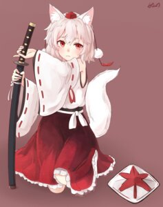 Rating: Safe Score: 5 Tags: animal_ears inubashiri_momiji sword tagme tail touhou User: nphuongsun93
