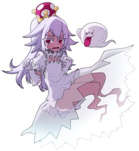Rating: Safe Score: 13 Tags: dress monster_girl new_super_mario_bros._u_deluxe princess_king_boo see_through skirt_lift ssangbong-llama User: Nico-NicoO.M.
