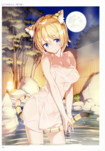 Rating: Questionable Score: 41 Tags: animal_ears mutsumi_masato onsen tail towel wet User: StardustKnight