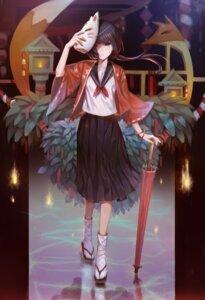 Rating: Safe Score: 9 Tags: japanese_clothes seifuku umbrella zema_haru User: Mr_GT