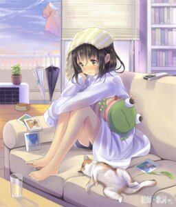 Rating: Safe Score: 11 Tags: ataru_(ataru_squall) dress_shirt feet neko towel wet User: Mr_GT