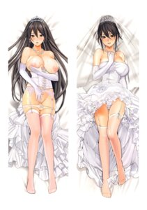 Rating: Questionable Score: 131 Tags: areola breasts dakimakura dress erect_nipples garter_belt inkey nipples pantsu panty_pull stockings thighhighs wedding_dress User: jjjjjhhhhh