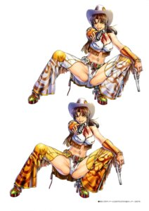Rating: Questionable Score: 19 Tags: black_lagoon cleavage gun heels hiroe_rei pantsu revy tattoo thighhighs User: drop