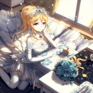 Rating: Safe Score: 68 Tags: ayase_eli dress kieta love_live! thighhighs wedding_dress User: Mr_GT