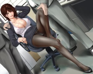Rating: Explicit Score: 67 Tags: areola business_suit cleavage dildo erect_nipples no_bra open_shirt pantsu pantyhose pubic_hair see_through sisshou_senkoku vibrator wet User: mash