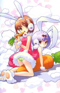 Rating: Questionable Score: 33 Tags: animal_ears bunny_ears flyable_heart inaba_yui ito_noizi pantsu User: 椎名深夏