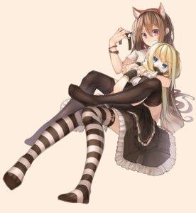 Rating: Safe Score: 43 Tags: animal_ears dress gothic_lolita lolita_fashion thighhighs zz_(artist) User: Mr_GT