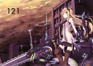 Rating: Safe Score: 33 Tags: asahiage chainsaw crease fixme mecha_musume poco thighhighs User: fireattack