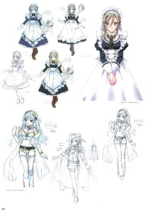 Rating: Safe Score: 16 Tags: character_design kamiya_maneki maid sketch User: crim