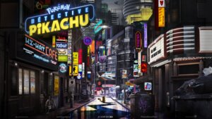 Rating: Questionable Score: 19 Tags: landscape pikachu pokemon pokemon_detective_pikachu tagme wallpaper User: fly24