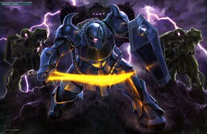 Rating: Safe Score: 8 Tags: gouf gun gundam mecha ms-06_zaku_ii sword User: drop