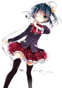Rating: Safe Score: 40 Tags: chuunibyou_demo_koi_ga_shitai! eyepatch naoto seifuku takanashi_rikka thighhighs User: 椎名深夏