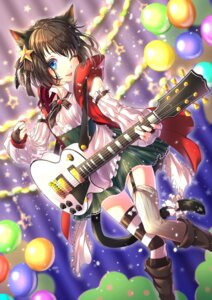 Rating: Safe Score: 20 Tags: animal_ears guitar nekomimi routo_(rot_0) stockings tail thighhighs User: Mr_GT