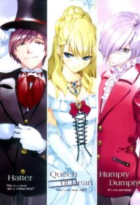 Rating: Safe Score: 24 Tags: alice_in_wonderland fancy_fantasia mad_hatter queen_of_hearts ueda_ryou User: Mirukudesu