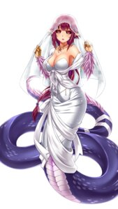 Rating: Safe Score: 55 Tags: cleavage dress midnight monster_girl pointy_ears tail wedding_dress User: Recksio