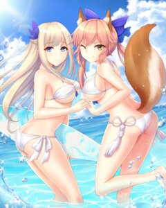 Rating: Questionable Score: 73 Tags: animal_ears ass bikini caster_(fate/extra) cleavage fate/extra fate/stay_night lexington swimsuits tail underboob wet yuemanhuaikong zhanjianshaonv User: Mr_GT