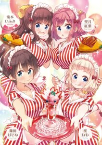 Rating: Safe Score: 17 Tags: cleavage maid mochizuki_momiji new_game! sakura_nene tagme takimoto_hifumi tokunou_shoutarou waitress User: kiyoe