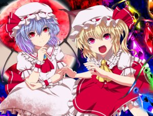 Rating: Safe Score: 16 Tags: flandre_scarlet fuji_hyorone remilia_scarlet touhou wings User: konstargirl