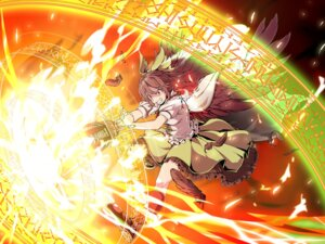 Rating: Safe Score: 12 Tags: aka_ringo reiuji_utsuho touhou wallpaper wings User: fairyren