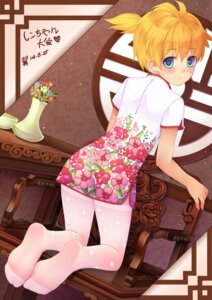 Rating: Safe Score: 22 Tags: chinadress kagamine_len pantyhose tsubasa_tsubasa vocaloid User: Mr_GT