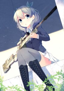 Rating: Safe Score: 70 Tags: gun mimura_zaja seifuku thighhighs User: AltY