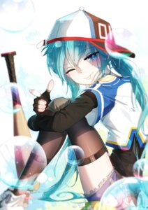 Rating: Safe Score: 41 Tags: baseball hatsune_miku sen_ya thighhighs vocaloid User: RyuZU