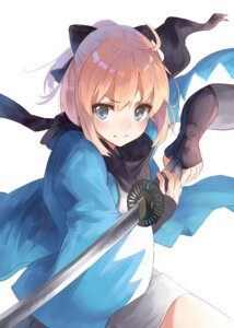 Rating: Safe Score: 31 Tags: fate/grand_order japanese_clothes jazztaki sakura_saber sword User: nphuongsun93