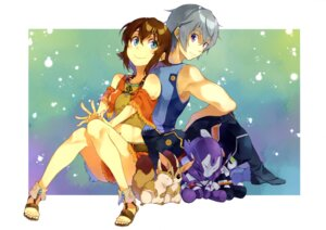 Rating: Safe Score: 31 Tags: amy_(gargantia) grace_(gargantia) ledo suisei_no_gargantia t-okada User: drop