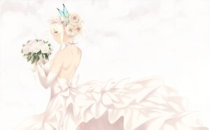 Rating: Safe Score: 52 Tags: boku_wa_tomodachi_ga_sukunai cait dress kashiwazaki_sena no_bra skirt_lift stockings thighhighs wedding_dress User: mash