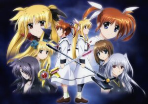 Rating: Safe Score: 11 Tags: alicia_testarossa fate_testarossa mahou_shoujo_lyrical_nanoha mahou_shoujo_lyrical_nanoha_a's precia_testarossa reinforce seifuku takamachi_nanoha yagami_hayate User: syaoran-kun