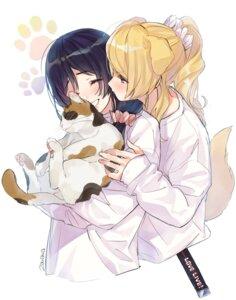Rating: Safe Score: 16 Tags: animal_ears ayase_eli inumimi love_live! neko tagme tail toujou_nozomi yuri User: Radioactive