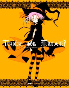 Rating: Questionable Score: 14 Tags: halloween makenshi_chrona naked_cape sakurazawa_izumi soul_eater thighhighs User: aleshxD